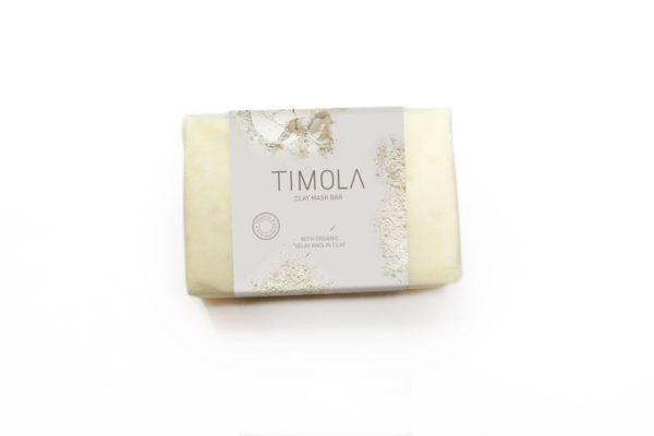 Timola Clay Mask Soap Bar Kaolin Clay