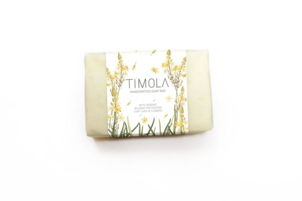 Timola Hand Crafted Soap Bar with Bulbine Flowers